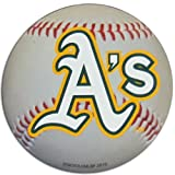 Oakland Athletics Baseball Shaped Magnet Large MLB Team for Refrigerator Locker