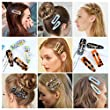 Pterxiog Geometric Drop Shaped Decorations Hairstyling 2