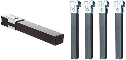 Imex El Zorro 81426 - Juego 4 Patas Somier, Metal, 270 x 40 x 30 mm + El Zorro Juego 4 Patas somier sin Ruedas, Metal, Neutro, 25 x 3 x 3 cm
