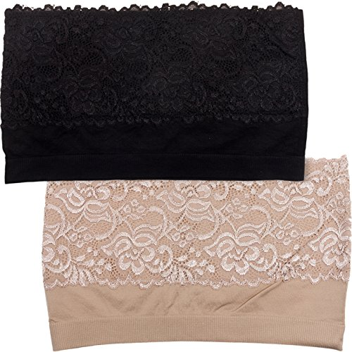 Lace Trim Bandeau - 5