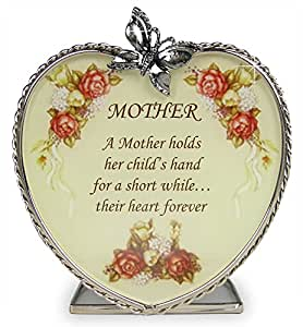 Amazon.com: Mom Gifts - Glass Heart Candle Holder - A Mother Holds Her Child's Hand for a Short ...