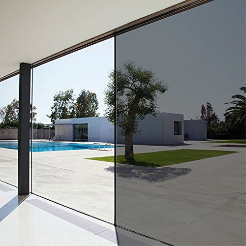 Privacy Residential Heat Control One Way Mirror Film Window Film For Home Office, Brown,23.6in.By 78.7in.(60 X 200cm)