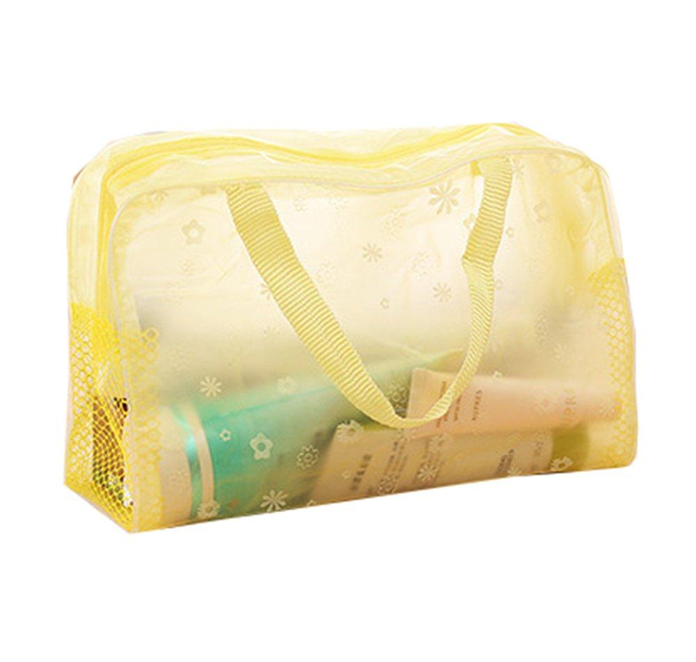 Da.Wa - Bolsa de aseo de viaje, impermeable, transparente, con cremallera