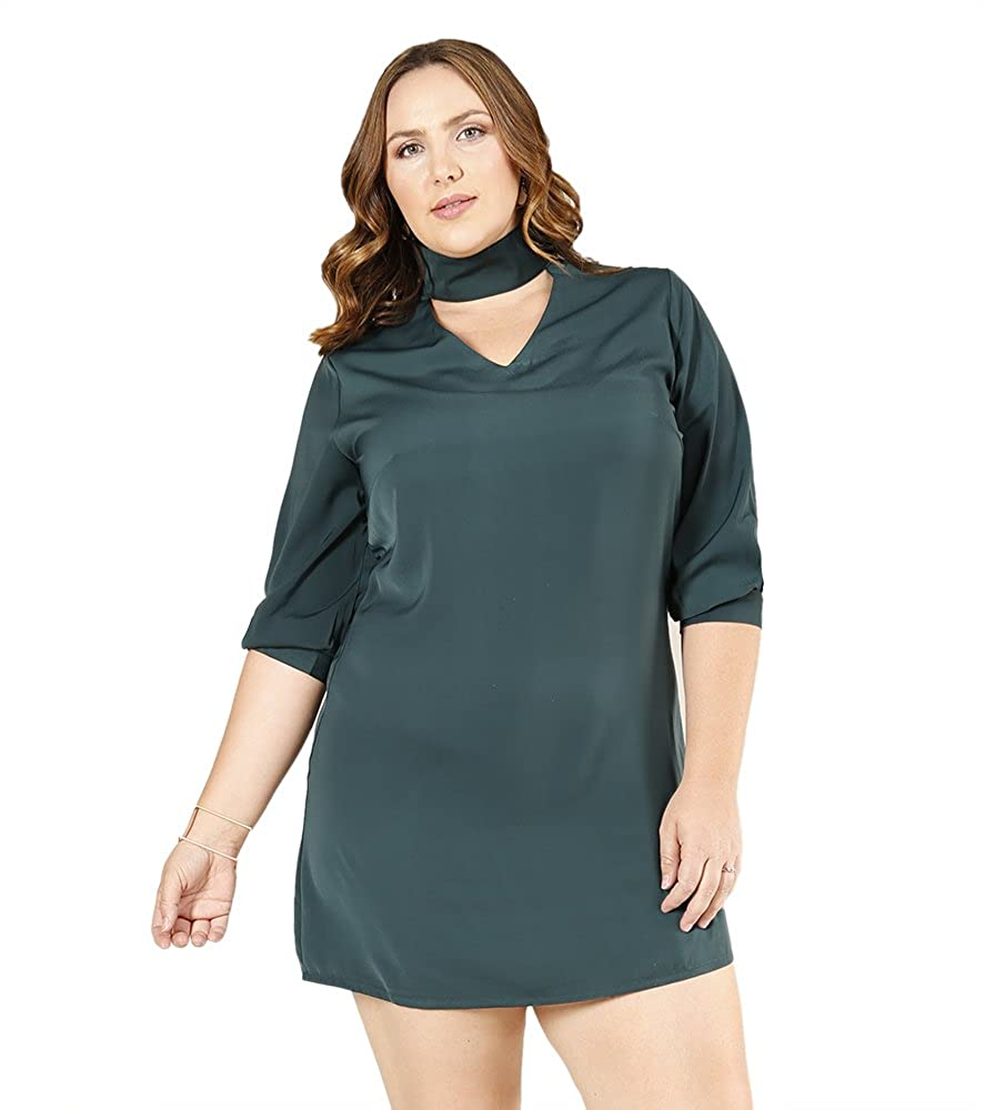 448a862635c5 Comfortable Fit  A relaxed fit on this women s plus size dress allows you  to stay comfy without compromising on style. Be the trendsetter with this  choker ...