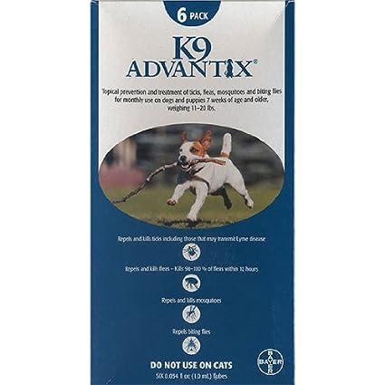 Amazon Teal K 9 Advantix II 11 20 Lb 6 Pack Pet Flea