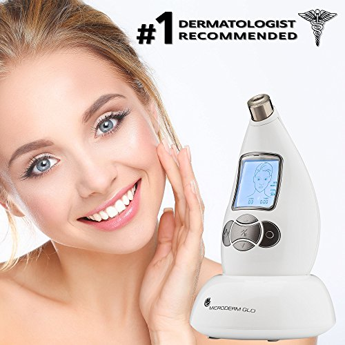 Microderm GLO Diamond Microdermabrasion System by Nuvéderm – #1 Advanced Home Facial Treatment Machine, Clinical Dermabrasion Anti-Aging Care, Perfect Blackhead Remover & Exfoliating Skincare Solution by Microderm GLO (Image #3)