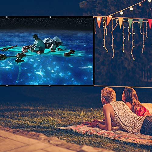 LOVAC 120 Inch Projector Screen,4k Rear Projection Screen 16:9 HD,Foldable Portable Anti-Crease Outdoor Movie Screen for Home Theater (Thin) Photo #8