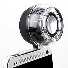 Mini Haut-parleur portable pour Console de jeux portable Nintendo 3DS, 2DS XL et Archos Gamepad 2 rechargeable, sans fil via prise jack de 3,5 mm