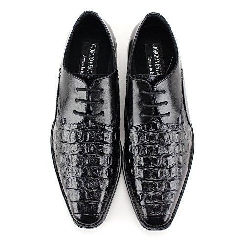 ... Giorgio Venturi 2525 ~ Lace-up Menns Skinn Kjole Sko ~ Black ...