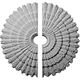 "Ekena Millwork CM24EN2 24 3/4""OD x 3 1/4""ID x 1 7/8""P Eryn Ceiling Medallion, Fits Canopies up to 4"", 2 Piece"