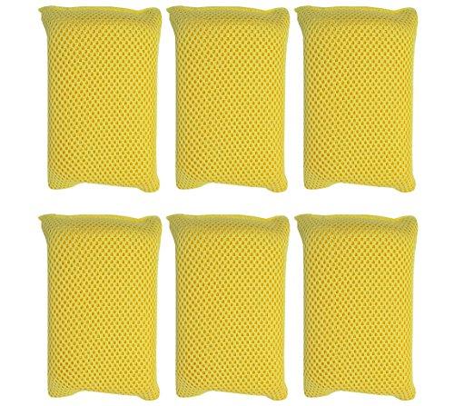 Iconikal Microfiber Bug Scrubber Sponge Pad, 6-Pack