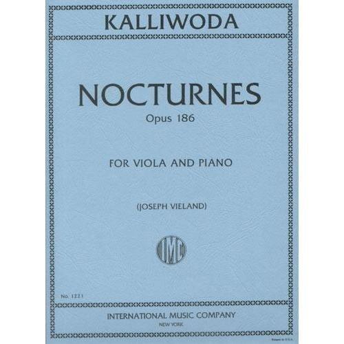 Kalliwoda J.W. Six Nocturnes, Op. 186 Viola and Piano - edited by Joseph Vieland - International