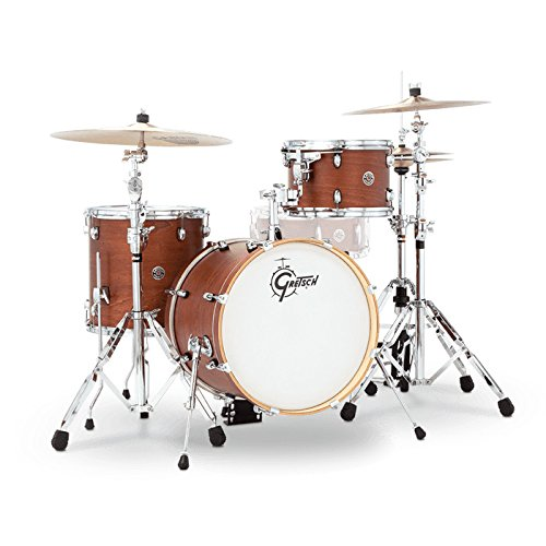 Gretsch Drums CT1-J483-SWG Catalina Club 3 Piece Drum Shell Pack, Satin Walnut Glaze