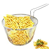 "Best unknown Bottom Media - 9"" Medium Stainless Steel Deep Fry Basket Round Review"