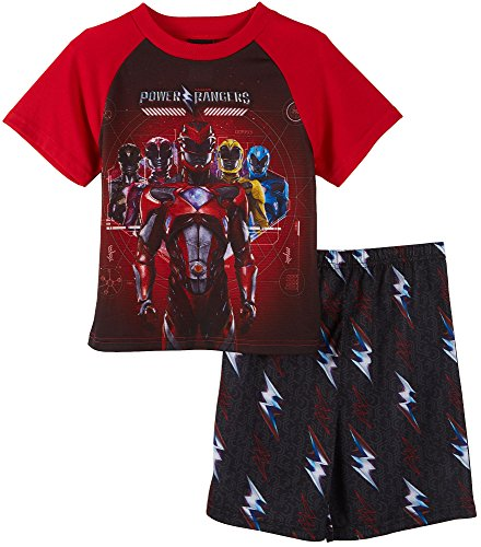 Power Rangers Boys Shorts Pajamas Set (8, Power Rangers Red) (Power Ranger Clothes)