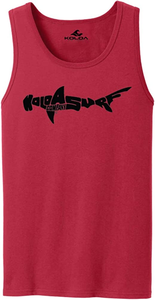 Koloa Surf Hammerhead Shark Logo Tank Tops in 27 Colors. Adult Sizes: S-4XL