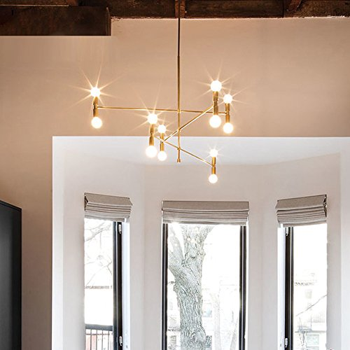 YOKA Modern Pendant Lighting Ceiling Chandelier Hanging Lamp With 12 Lights  Fixture Flush Mount