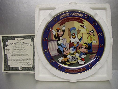 Disney Collectible Plates (Bradford Exchange~Premier Plate in Mickey and Minnie: Through the Years Plate Collection