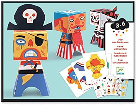 Djeco Stickers Pirates New Pirate party bag small gift
