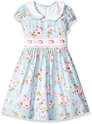 Bonnie Jean Girls' Toddler Collared Cotton Dress, Antique/Blue, ()