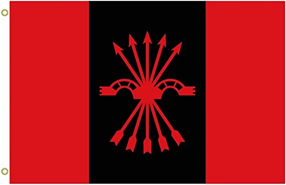 Gran bandera nacional de Falange Española de las asambleas de la Syndicalist ofensiva bandera al aire libre bandera bandera 3 x 5ft Banner: Amazon.es: Jardín