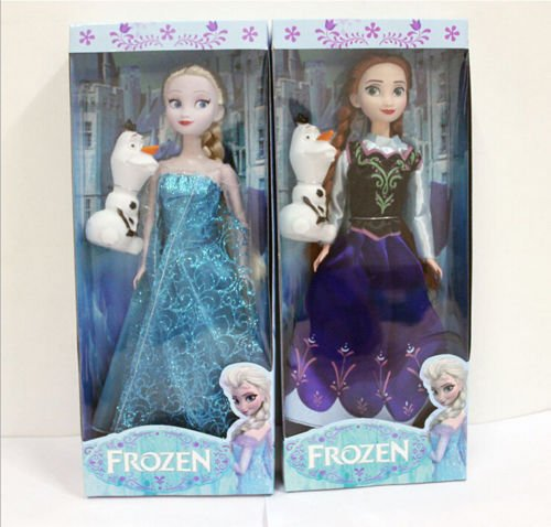 New 2pcs 30CM Disney Frozen Elsa&Anna princess Christmas Playset Figures Doll (Sucker Punch Pokemon)
