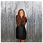 Wanna Party Foil Curtain for Birthday, Wedding, Anniversary, Baby Shower Decoration (Silver)