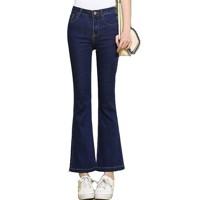 Huixin Pantalones Vaqueros para Mujer Azul Oscuro Micro ...