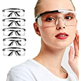 Fashion Safety Goggles 5pcs Protective Glasses Clear FogProof Adjustable Windproof and splashproof Protection Eyewear…