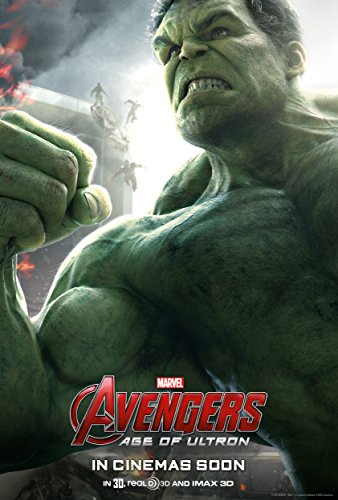 Avengers: Age of Ultron, HULK  Movie Poster 24x36 , Glossy F