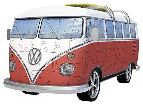 Ravensburger Volkswagen T1 Campervan 162 Piece 3D Jigsaw Puzzle for Kids and Adults - Easy Click Technology Means Pieces Fit Together Perfectly