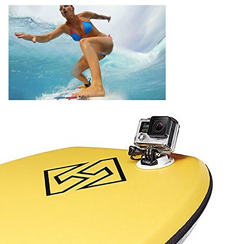 MM Ski Surf Snowboard Wakeboard Board Mount 8 in 1 Set for GoPro Hero4/3/3+ -
