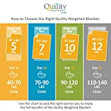 Quility Premium Adult Weighted Blanket & Removable