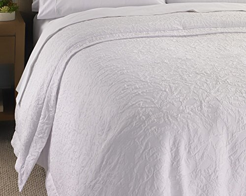 Hampton Inn Hotel White Jacquard Duvet Cover   Insert King Set