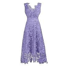 ThaliaDress Women's Summer Floral Lace Swing Bridesmaid Dress T244LF