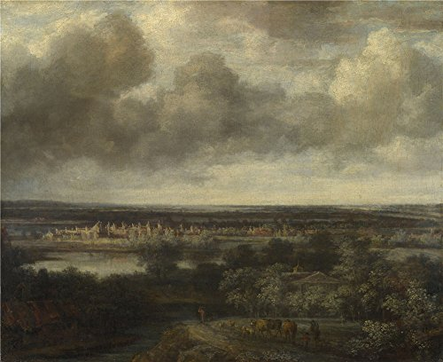 The High Quality Polyster Canvas Of Oil Painting 'Philips Koninck An Extensive Landscape With A Town ' ,size: 12 X 15 Inch / 30 X 37 Cm ,this Beautiful Art Decorative Prints On Canvas Is Fit For Foyer Decor And Home Decoration And Gifts