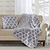 Ogee Modern Throw Pillow, Casual Animal Square Decorative Pillow, 20X20, Grey