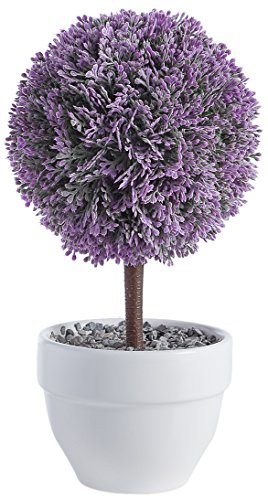 Torre & Tagus 901838 Jardin Topiary Lavender Ball, 10-Inch