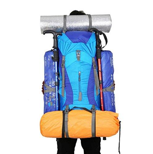 Color Aire Azul de Bolso Hombre Libre para Mujeres Bolso GKKXUE al para Gran de Hombro de Acampar Bolso Casual Hombro y 75L Rojo Profesional Capacidad de Alpinismo Xn4Spv7