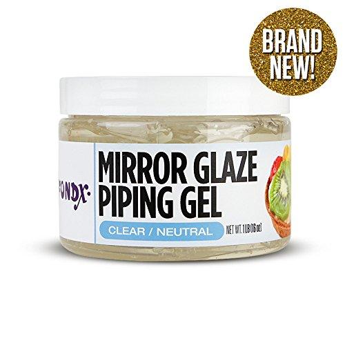 - FondX Clear Mirror Glaze Piping Gel, 1 Pound