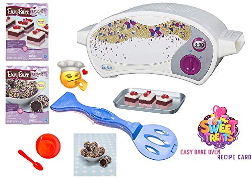 Easy Bake Ultimate Oven Baking Star Edition + 2 Oven Refill Mixes + 2 Sweet Treats Tasty Oven Recipes + Mixing Bowl and Spoon (5 Items Total) (Red) (Easy Bake Red Velvet Cake Mix Instructions)