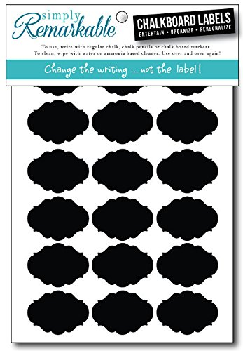 (Chalkboard Labels - 36 Small Fancy Ovals - Chalk Labels Ð Removable, Rewriteable, Simply Remarkable! Organize, Personalize and Entertain with style and simplicity! Classic, long lasting Material - Made in the USA.)