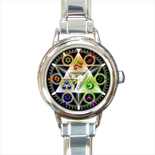 Custom 9mm Charm New (New Legend Of Zelda Triforce Nintendo Famous Game Cube Design Women italian charm Metal Watch Design)