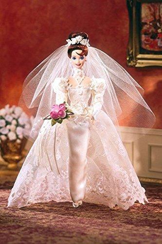 Romantic Rose Bride Porcelain Barbie Doll ()