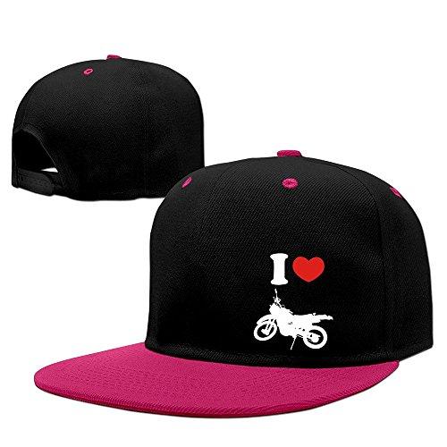 Fashion I Heart Love Bike Logo Baseball Cap Unisex Pink
