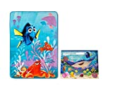 Only After Noon Finding Dory & Nemo Plush Twin-Size Blanket 62 x 90 Underwater Adventures Coloring Book Stickers