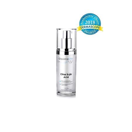 GloxiniaLife by Dr. Calle Citrus Kojic Acid – Natural Skin Lightening, Non-Hydroquinone – For Hyperpigmentation Melasma Treatment – Dark Spot Corrector Moisturizing Cream, 1 oz