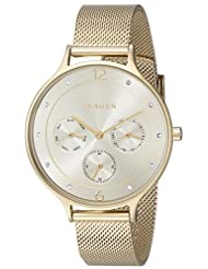 Skagen Women's Anita SKW2313 Gold Stainless-Steel Quartz Watch