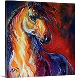 Marcia Baldwin Gallery-Wrapped Canvas entitled Stallion Red Dawn