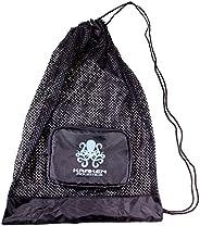 Kraken Aquatics Compact Mesh Gear Bag | for Scuba Diving, Snorkeling, Swimming, Beach and Sports Equipment